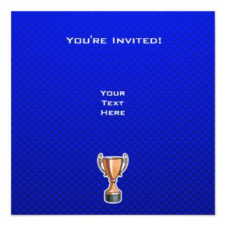 "Trofeo; Azul Invitación 5.25"" X 5.25"""