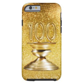 Trofeo centenario con los fuegos artificiales funda de iPhone 6 tough