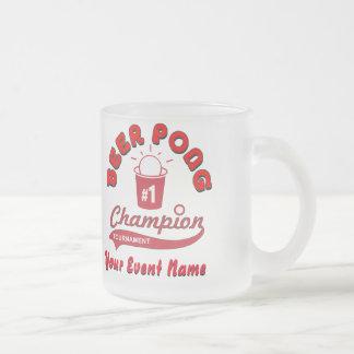 Trofeo de encargo de Pong de la cerveza Taza De Café Esmerilada