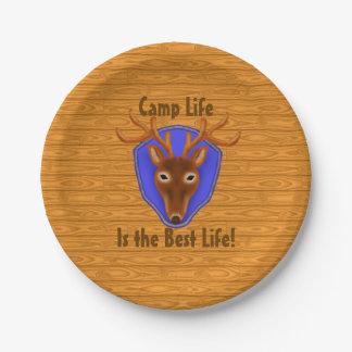 trofeo de la caza de los ciervos del dólar 8-Point Platos De Papel