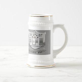Trofeo de la liga de fútbol de la fantasía taza de café