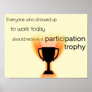Trofeo de la participación póster