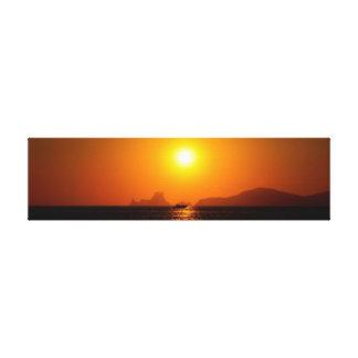 Trofeo de la puesta del sol lienzo envuelto para galerias