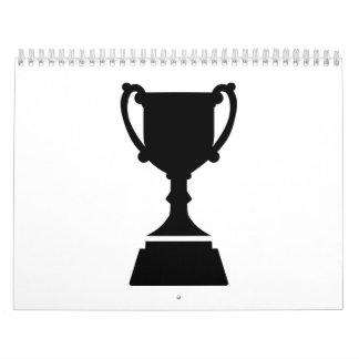 Trofeo de la taza calendarios de pared
