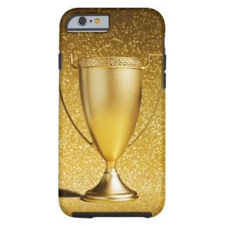 Trofeo de la taza del oro funda de iPhone 6 tough