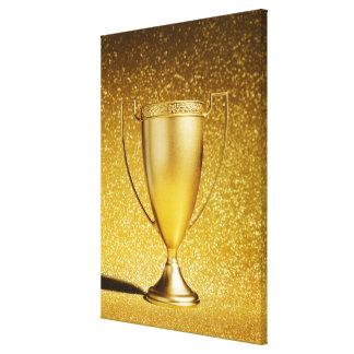 Trofeo de la taza del oro lienzo envuelto para galerias