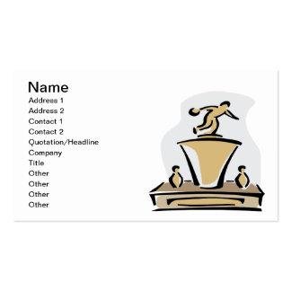Trofeo de los bolos tarjetas de visita
