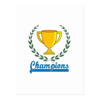 Trofeo de los campeones postal