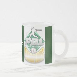 Trofeo del béisbol de la fantasía taza de café esmerilada
