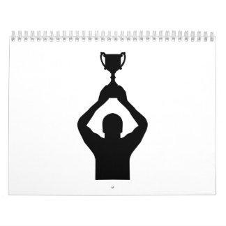 Trofeo del campeón del ganador calendario de pared