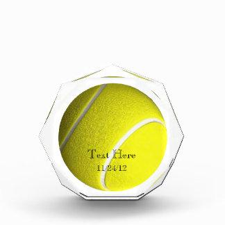Trofeo del cristal de la pelota de tenis