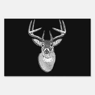 Trofeo del dólar en ciervos negros de la cola letreros