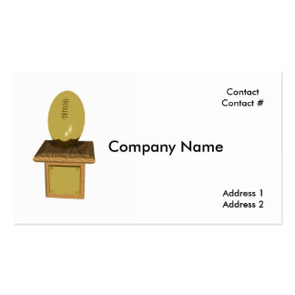 trofeo del fútbol del oro tarjetas de visita