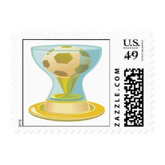 Trofeo del fútbol sellos