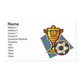 Trofeo del fútbol tarjetas de visita