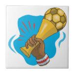Trofeo del fútbol tejas  ceramicas