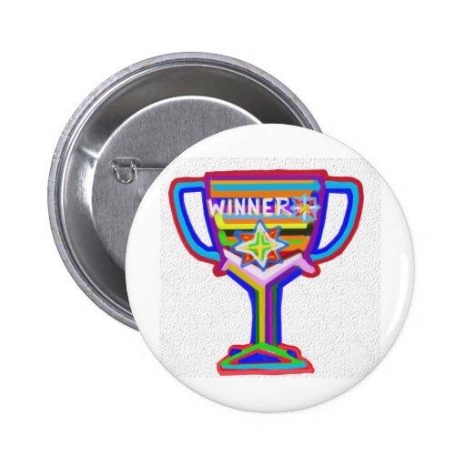 Trofeo del ganador:  Arte de acrílico Pin Redondo 5 Cm