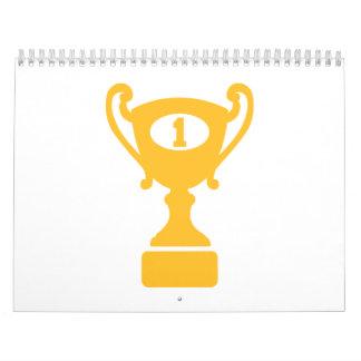 Trofeo del ganador del campeón calendarios de pared
