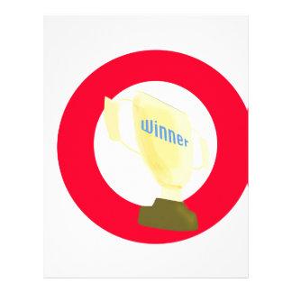 Trofeo del ganador membrete