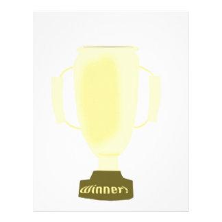 Trofeo del ganador membrete a diseño