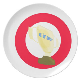 Trofeo del ganador platos de comidas