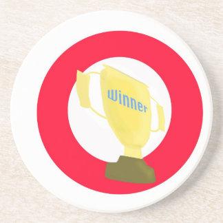 Trofeo del ganador posavasos cerveza