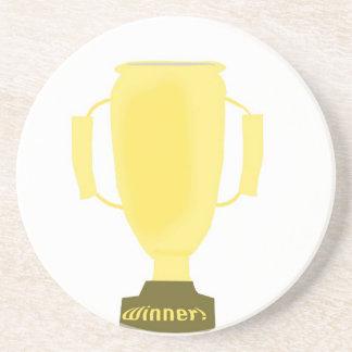 Trofeo del ganador posavasos diseño