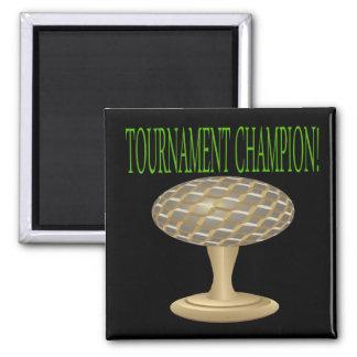 Trofeo del golf imán cuadrado