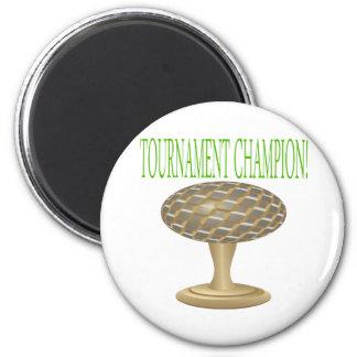 Trofeo del golf imán redondo 5 cm