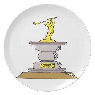 Trofeo del golf plato para fiesta
