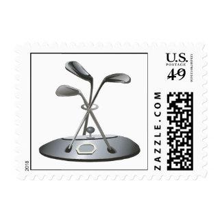 Trofeo del golf sello postal