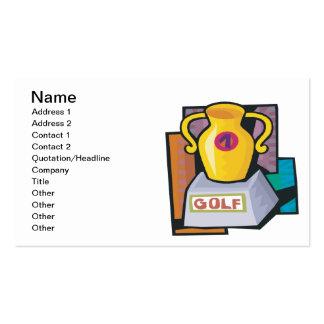 Trofeo del golf tarjetas de visita
