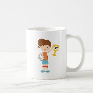 Trofeo del jugador de voleibol de los chicas tazas de café