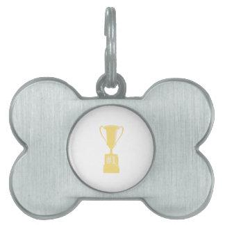 Trofeo del oro 1 placa de nombre de mascota