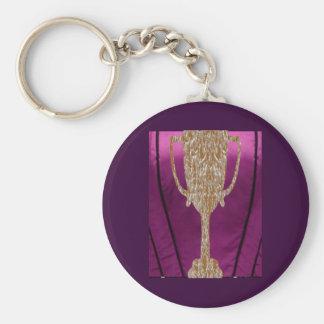 TROFEO del oro: Celebración de la recompensa del p Llavero Redondo Tipo Pin