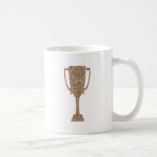 TROFEO del oro: Celebración de la recompensa del p Tazas De Café