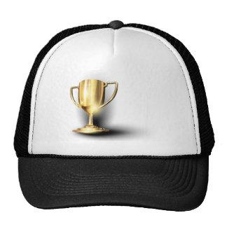 Trofeo del oro gorros