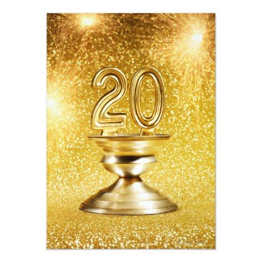 """Trofeo del oro invitación 5"""" x 7"""""""