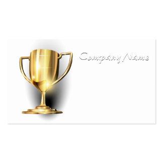 Trofeo del oro tarjetas de visita