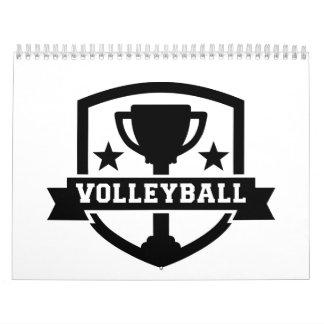 Trofeo del voleibol calendario de pared