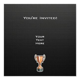 """Trofeo liso invitación 5.25"""" x 5.25"""""""