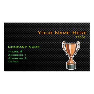 Trofeo liso tarjetas de visita