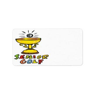 Trofeo mayor del golf etiquetas de dirección