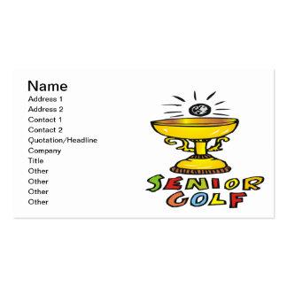 Trofeo mayor del golf tarjetas de visita