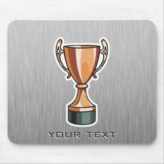 Trofeo; Metal-mirada cepillada Alfombrilla De Raton