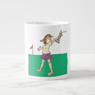 Trofeo para mujer del golf taza jumbo