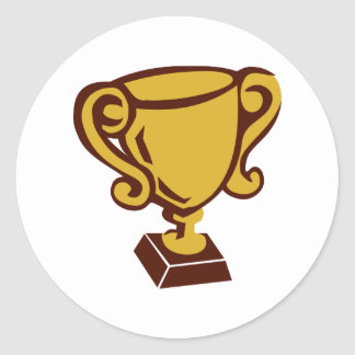 Trofeo - taza pegatinas redondas