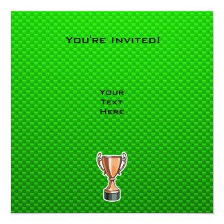"""Trofeo verde invitación 5.25"""" x 5.25"""""""