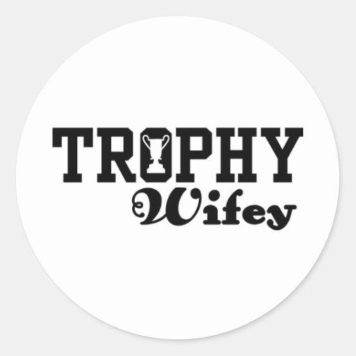Trofeo Wifey Etiqueta Redonda