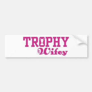 Trofeo Wifey Pegatina Para Auto